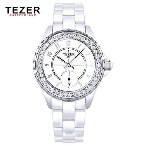 Tezer Mode Quarz Keramik Handgelenk Uhren T5002