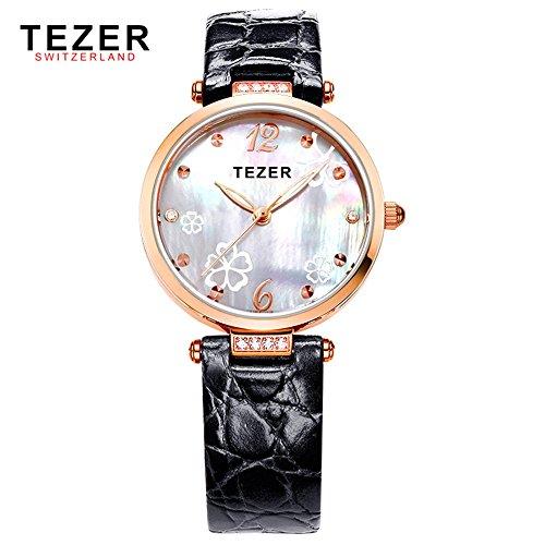 Tezer Fashion Armbanduhr wasserabweisend Damen Handgelenk Uhren T2014