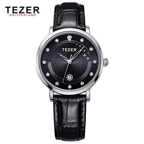 Tezer Damen Fashion Wasserdicht Handgelenk Uhren T3050