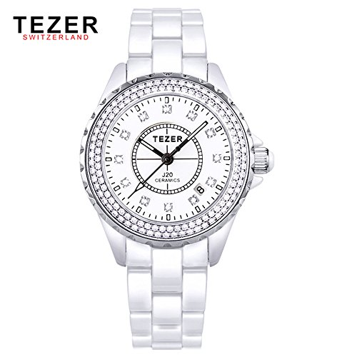 Tezer New Fashion Quarz Keramik Handgelenk Uhren T5002