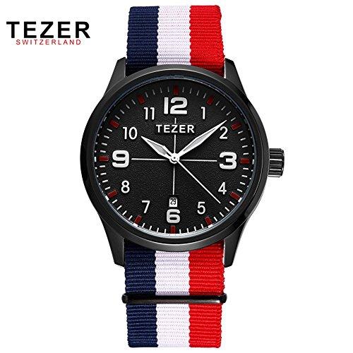 Tezer New Fashion Herren Handgelenk Quarz Uhren T2011