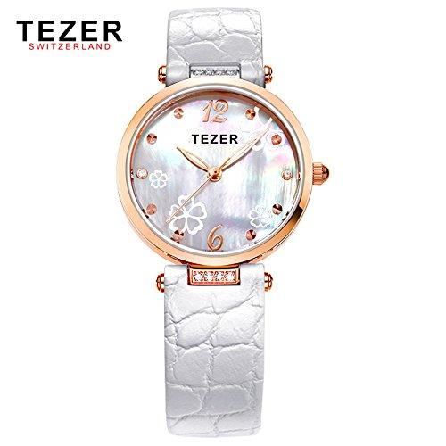 Tezer Fashion wasserabweisend Damen Handgelenk Uhren T2014