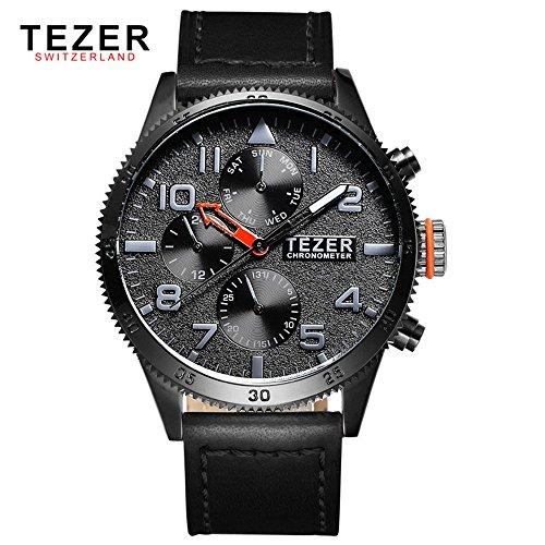 Tezer zudem wasserdicht Multifunktions Schweizer Band Quarz Handgelenk Uhren T2051 T2051 3