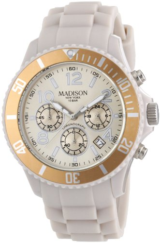 Madison New York Unisex Armbanduhr Candy Chrono Chronograph Silikon U4362 09