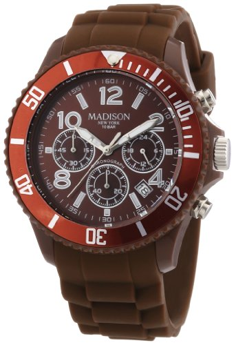 Madison New York Unisex Armbanduhr Candy Chrono Chronograph Silikon U4362 19