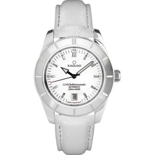 Kadloo Damenuhr Armbanduhr MEDITERRANÉE 80701 WHITE