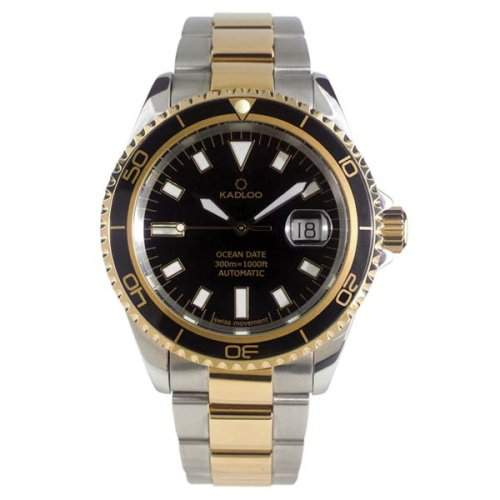 Kadloo Uhr Herrenarmbanduhr Ocean Date Gold