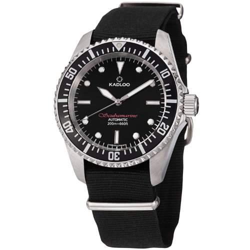 Kadloo Herren-Armbanduhr XL Scubamarine Analog Automatik Plastik 80820-BK