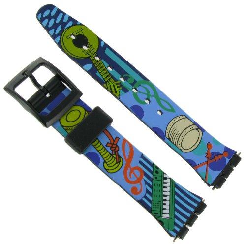 17 mm Musikinstrumente Design Armbanduhr Band fuer swatch gratis Spring Bars