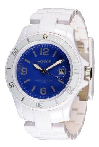 Waooh Uhren Milano 42 Zifferblatt Farbe Weiss MILANO42CCB BLAC BLE