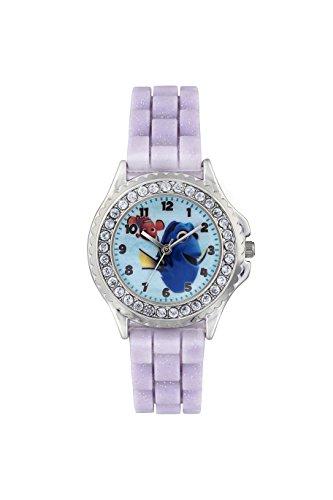 Finden Dory Kinder Quarz Uhr mit Zifferblatt Analog Anzeige und lila Rubber Strap fdo3035