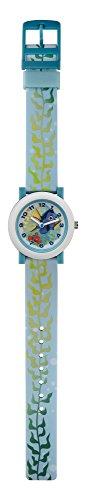 Finden Dory Kinder Quarz Uhr mit Blau Zifferblatt Analog Display und Blau Kunststoff Gurt fid5