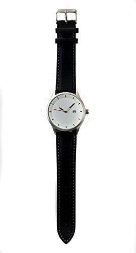 Santiago Black Armbanduhr Lederband Hochwertiges Quarzlaufwerk fuer Damen