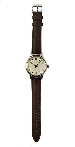 Lisboa Brown Armbanduhr Lederband Hochwertiges Quarzlaufwerk fuer Damen