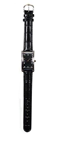 Saint Tropez Black Armbanduhr Lederband Hochwertiges Quarzlaufwerk fuer Damen