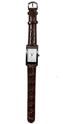 Saint Tropez Brown Armbanduhr Lederband Hochwertiges Quarzlaufwerk fuer Damen