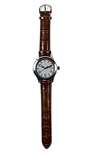 Monte Carlo Brown Armbanduhr Lederband Hochwertiges Quarzlaufwerk fuer Damen