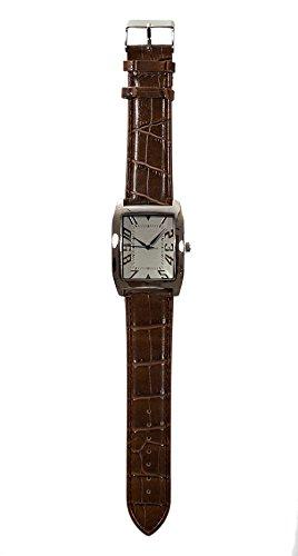 Capri Armbanduhr Lederband Hochwertiges Quarzlaufwerk fuer Damen