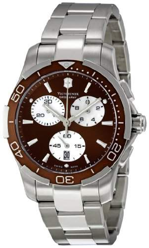 VICTORINOX CLASSIC WOMENS STAINLESS STEEL CASE CHRONOGRAPH DATE UHR 241502