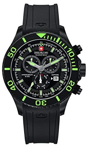 Swiss Military Herren-Armbanduhr IMMERSION Chronograph Quarz Silikon 6-422613007