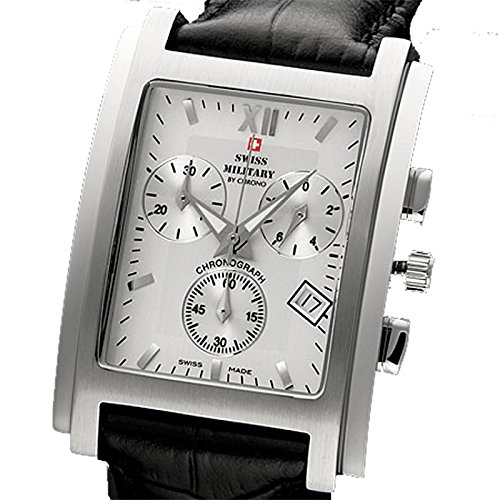 Herrenarmbanduhr SWISS MILITARY Dark Attack silver leather