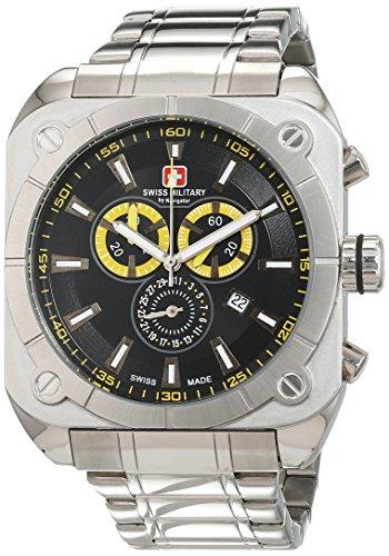 Swiss Military Herren Armbanduhr Chronograph Quarz Edelstahl SM4385 02