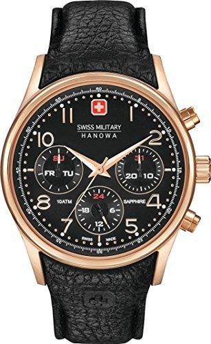 Swiss Military Hanowa Navalus Multifunction Herren Multifunktionsuhr schwarz rosegoldfarben 06 4278 09 007