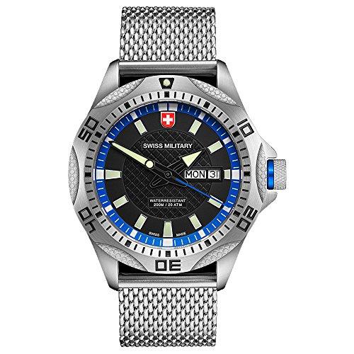 Swiss Military Herren Uhr TANK schwarz blau 2737