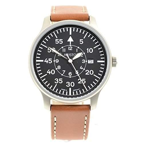 Aristo Uhr - klassische Fliegeruhr 3H80 mit grosser Minuterie