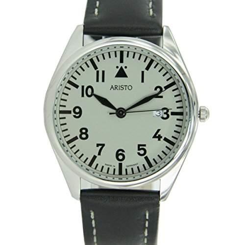Aristo Herren Uhr Armbanduhr Quarz Edelstahl 4H155
