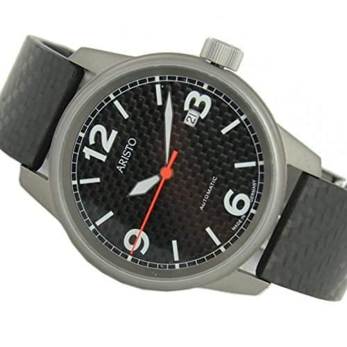Aristo Herren Uhr Titan Carbon Automatik 5H83