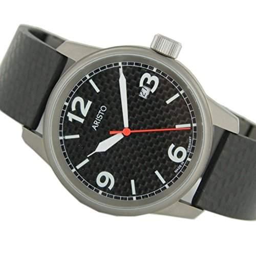 Aristo Herren Uhr Titan Carbon 5H83Q
