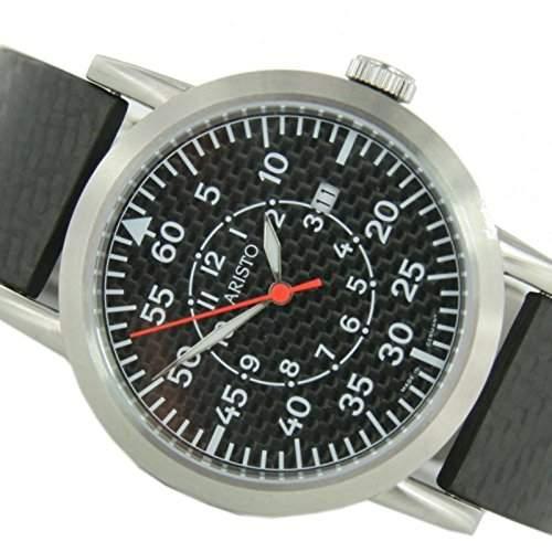 Aristo Herren Uhr Edelstahl Carbon Automatik 7H80ASC