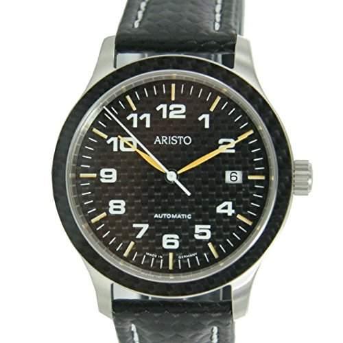 Aristo Herren Uhr Carbonuhr Automatik 7H81