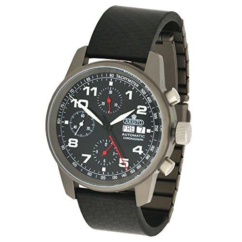 Aristo Unisex Armbanduhr Automatik Chronograph Titan Carbon 5H99 ETA 7750 Uhrwerk swiss made