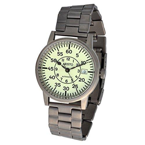 Aristo Unisex Uhr Armbanduhr U Boot Uhr Automatik Titan 5H92TIB