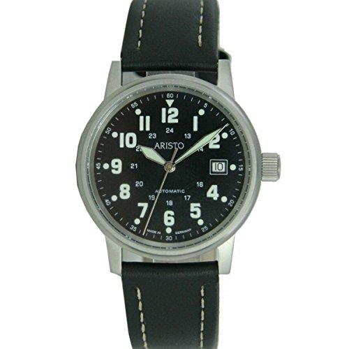 Aristo Armbanduhr Fliegeruhr Automatic Leder 3H11