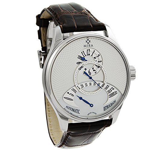 Mira Classic Merveille De L ESPACE Retrograde White Mother of Pearl Automatische m101ssv