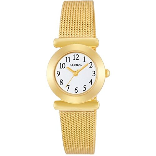 Lorus Watches Ladies Gold Tone Classic Watch With Gold Steel Strap