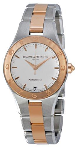Baume et Mercier Edelstahl Mercier Damen Baume Weiss Linea Stahl Uhr 18kt Rose Gold Zifferblatt und und