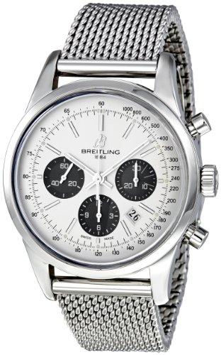 Breitling Chronograph Transocean Automatisch Edelstahl Breitling Silber Stahl Mens Wahlschalter 01