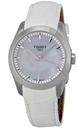 Tissot T0352461611100 Automatisch Couturier zguen Leder Grande Mutter Bayanlar Tissot Weiss zle Pearl Wahlschalter in
