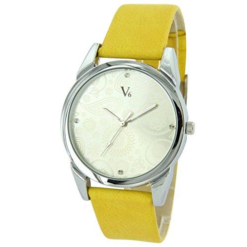 V6 Uhren Damen Leder gelb V6 1939