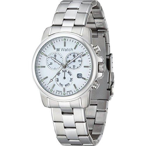 M Watch Chrono Armbanduhr Weiss