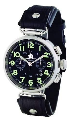 Moscow Classic Classic 313301511055S Mechanischer Chronograph für Ihn Außergewöhnliches Gehäuse