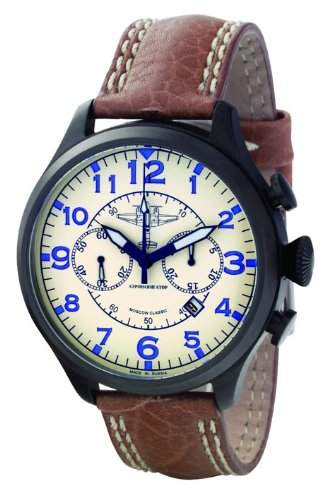 Moscow Classic Aeronavigator 313301861069 Mechanischer Chronograph für Ihn Made in Russia