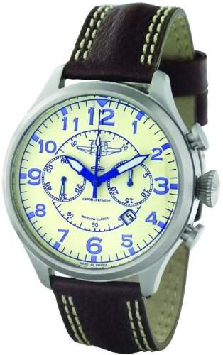 Moscow Classic Aeronavigator 313301831069 Mechanischer Chronograph für Ihn Made in Russia