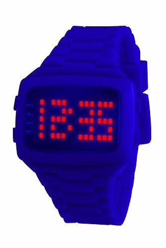 LED Unisex Armbanduhr Digital Kunststoff violett LED PE STP