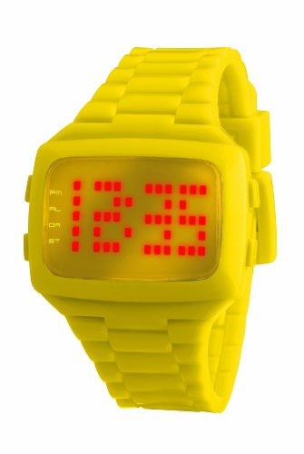 LED Unisex Armbanduhr Digital Kunststoff gelb LED YW STP