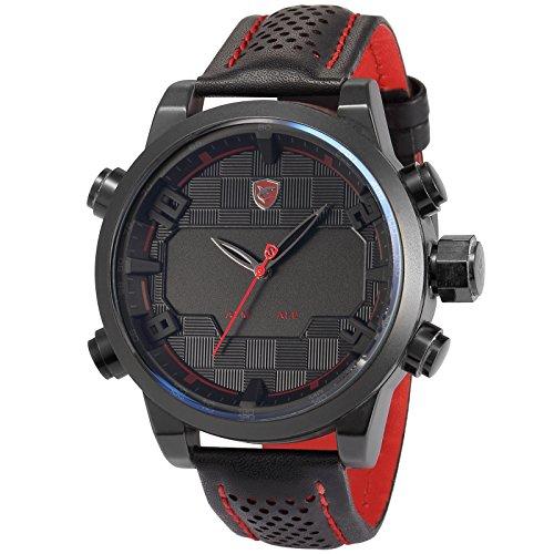Shark Herren LED Armbanduhr 5cm Extragro es Uhrgeh use SH203
